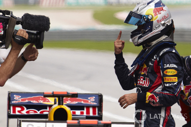 6º Sebastian Vettel - 19 corridas - De Brasil 2010 até Índia 2011 - Red Bull