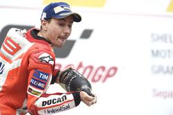 Podium: second place Jorge Lorenzo, Ducati Team
