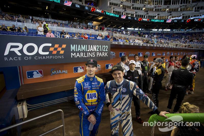 Alexander Rossi y Scott Speed, esperan