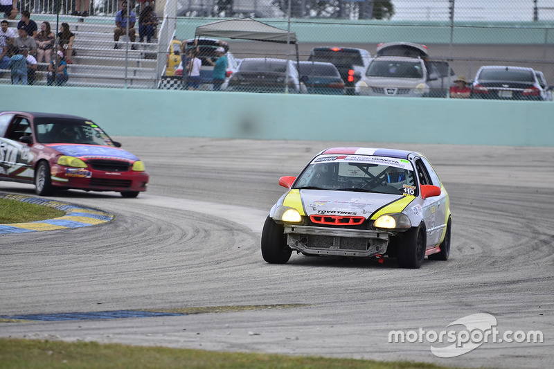 #110 MP4A Honda CRX driven by Wilbert Perez of High Temp Racing