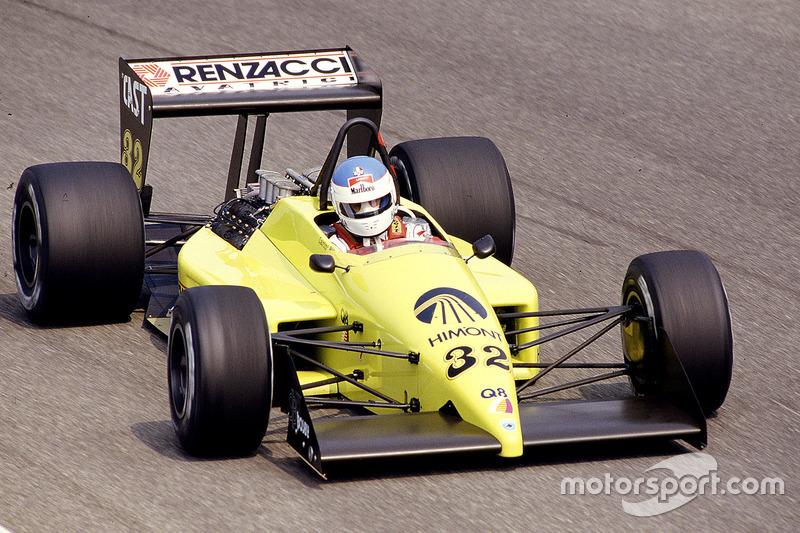 #32: Nicola Larini, Coloni FC187, Cosworth