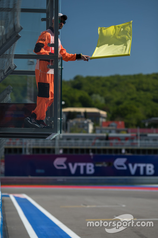 Marshal and Yellow Flag