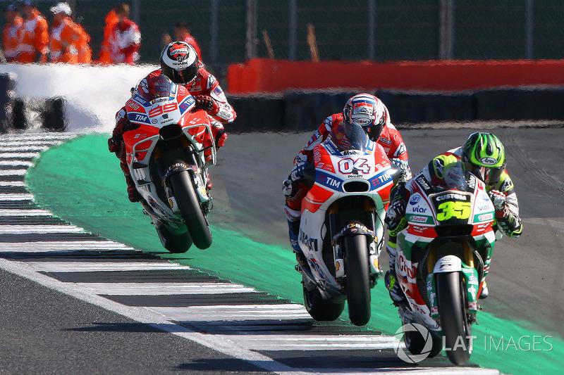 Cal Crutchlow, Team LCR Honda, Andrea Dovizioso, Ducati Team, Jorge Lorenzo, Ducati Team