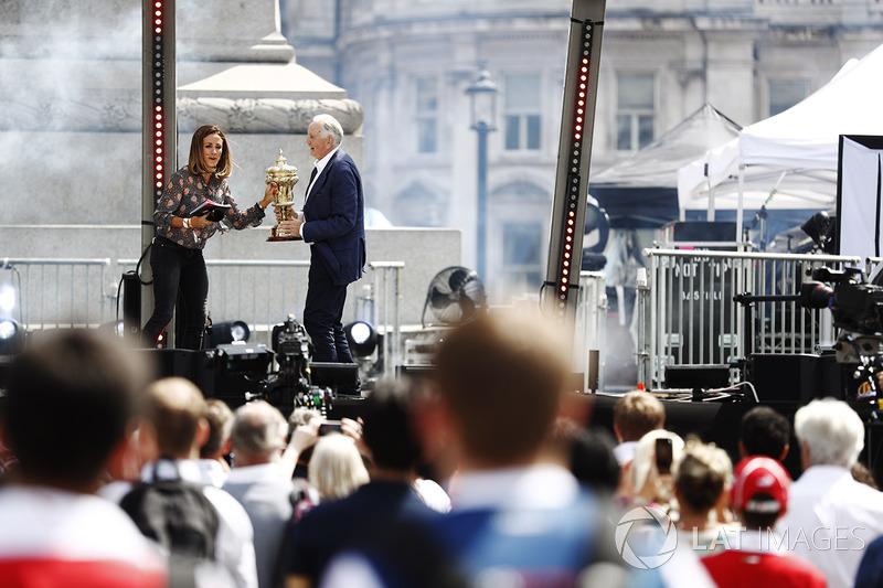 Natalie Pinkham, Sky Sports F1; John Watson