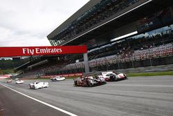 Парад спортпрототипов: Audi R18 LMP1, Porsche 919 Hybrid, BMW V12 LMR, Porsche 962 и 936, Ferrari 512S