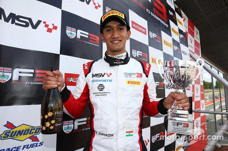 Podium: Krishnaraaj Mahadik, Double R Racing