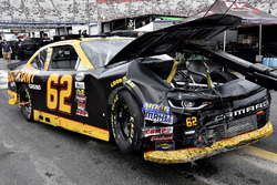 The crashed car of Brendan Gaughan, Richard Childress Racing Chevrolet