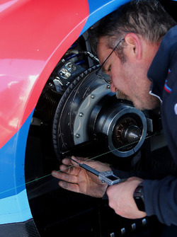 BMW Team RLL crew member