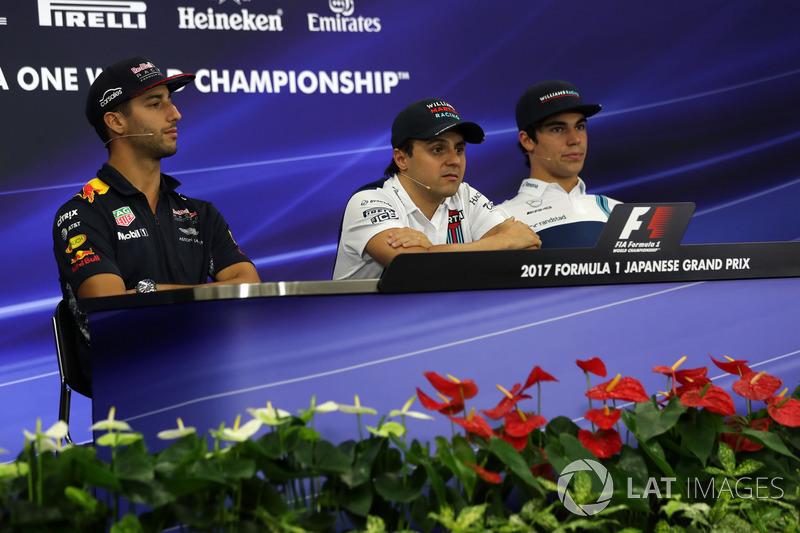 Даніель Ріккардо, Red Bull Racing, Феліпе Масса, Ленс Стролл, Williams