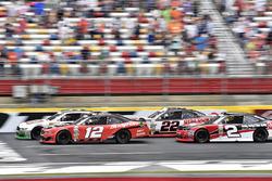 Kevin Harvick, Stewart-Haas Racing Ford, Ryan Blaney, Team Penske Ford, Brad Keselowski, Team Penske Ford, Austin Dillon, Richard Childress Racing Chevrolet