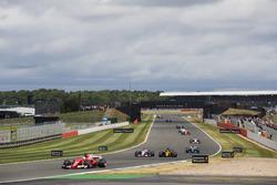 Sebastian Vettel, Ferrari SF70H, Esteban Ocon, Sahara Force India F1 VJM10, Nico Hulkenberg, Renault Sport F1 Team RS17