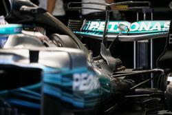 Mercedes-Benz F1 W08  detalle trasero