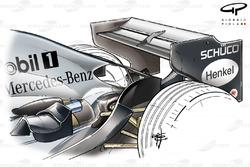 McLaren MP4-20 2005 Monza rear wing