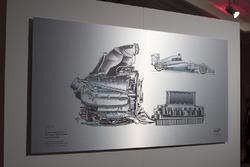A Giorgio Piola technical drawing of Lewis Hamilton's 2014 Mercedes W05 Hybrid