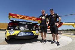 Team owner Charlie Schwerkolt and Lee Holdsworth supporting Surf Life Saving Queensland