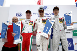 Podium: Winner Lance Stroll, Prema Powerteam Dallara F312 – Mercedes-Benz; second place Nick Cassidy