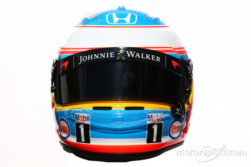 Il casco di of Fernando Alonso, McLaren