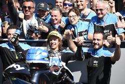 2. Nicolo Bulega, Sky Racing Team VR46, feiert mit dem Team