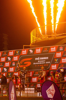 Podium: second place Jamie Whincup, Triple Eight Race Engineering Holden, third place Scott McLaughlin, DJR Team Penske Ford