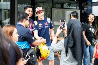 Marc Marquez, Repsol Honda Team avec des fans