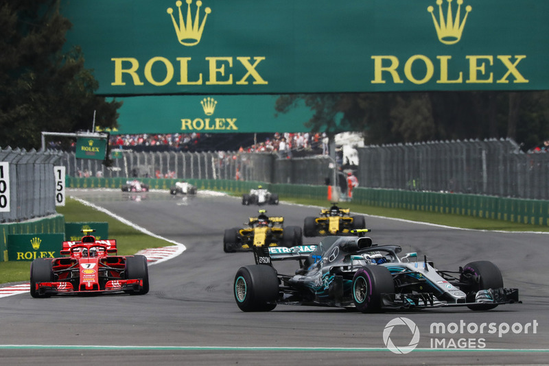 Валттері Боттас, Mercedes AMG F1 W09 EQ Power+, Кімі Райкконен, Ferrari SF71H