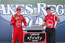 Christopher Bell, Joe Gibbs Racing, Toyota Camry Rheem and Jason Ratcliff celebrate in victory lane