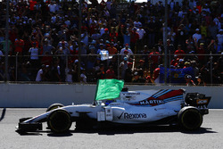 Felipe Massa, Williams FW40 with a flag
