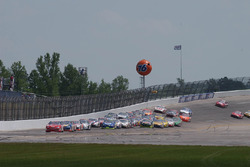 Dale Earnhardt Jr. leading the pack off of turn 2