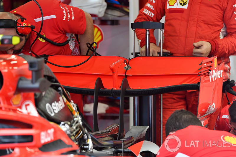 Alerón trasero del Ferrari SF71H