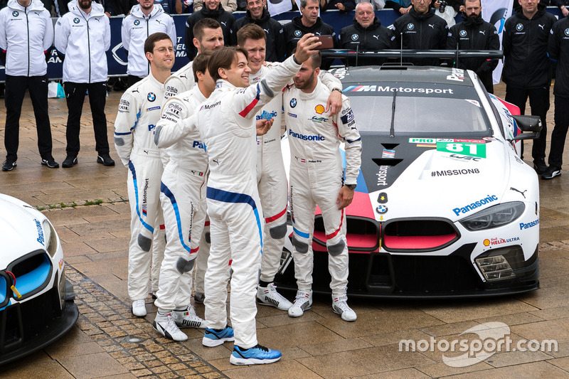 #81 BMW Team MTEK BMW M8 GTE: Martin Tomczyk, Nicky Catsburg, Philipp Eng, #82 BMW Team MTEK BMW M8 GTE: Antonio Felix da Costa, Alexander Sims, Augusto Farfus