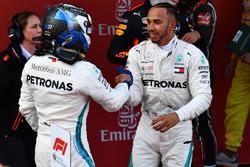Race winner Lewis Hamilton, Mercedes-AMG F1 and Valtteri Bottas, Mercedes-AMG F1 celebrate in parc ferme
