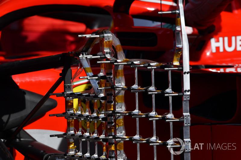 Detalle de los sensores del Ferrari SF71H