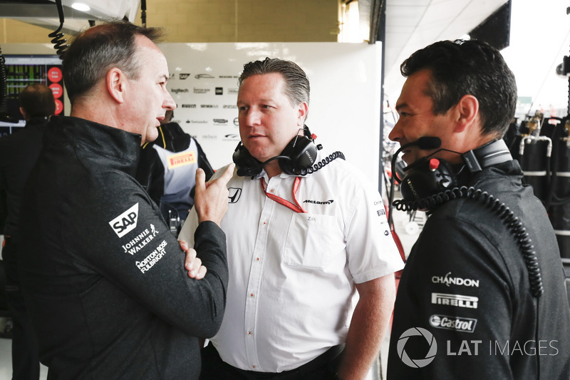 Jonathan Neale, Director de manejo, McLaren, Zak Brown, Director Ejecutivo, McLaren Technology Group