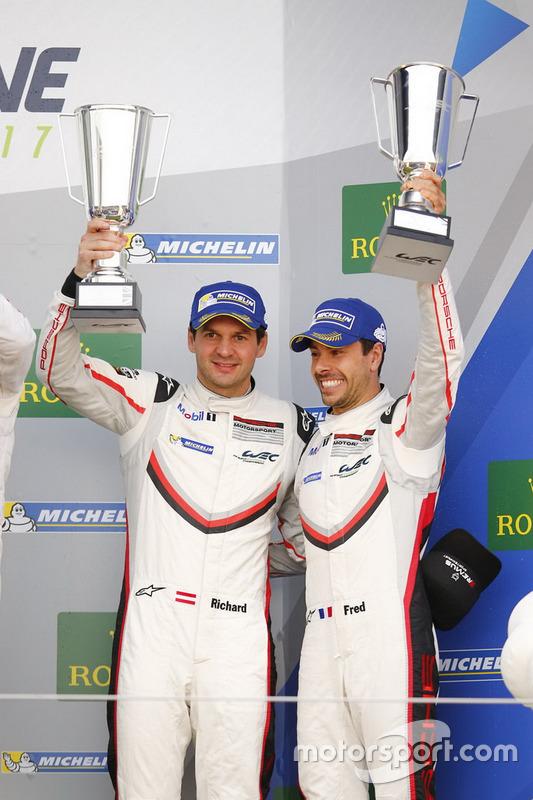 Podium GTE-Pro: #91 Porsche Team Porsche 911 RSR: Richard Lietz, Frédéric Makowiecki