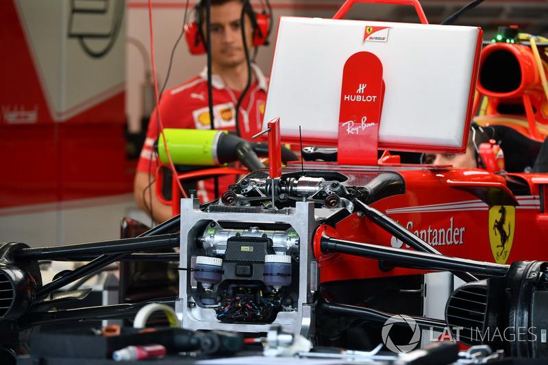 Передня підвіска і шасі Ferrari SF70H