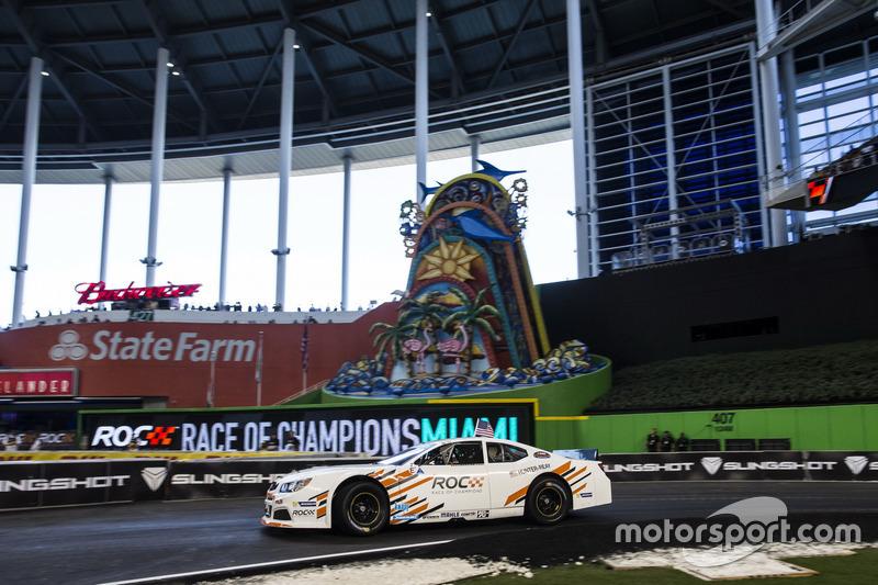 Ryan Hunter-Reay, in de Whelen NASCAR