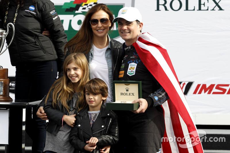 Jeff Gordon, Wayne Taylor Racing met zijn familie