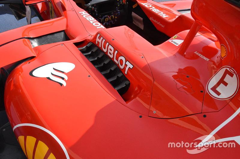 Ferrari SF70H, detalle de la carrocería