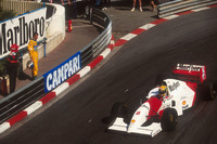 Ayrton Senna, McLaren MP4/8; Michael Schumacher, Benetton Ford