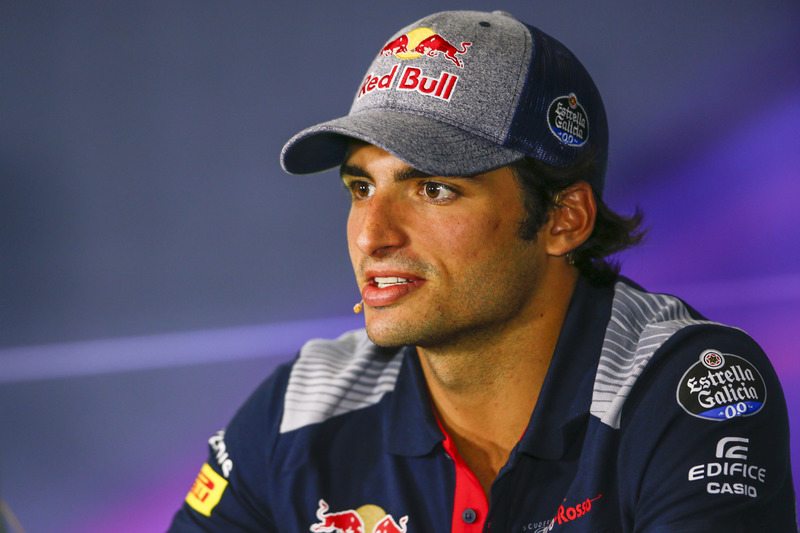 Carlos Sainz Jr., Scuderia Toro Rosso, in the press conference