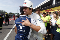 Felipe Massa, Williams, felicita a Lance Stroll, Williams, por sus primeros puntos
