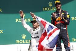 Podium: 1. Lewis Hamilton, Mercedes AMG F1, 3. Daniel Ricciardo, Red Bull Racing