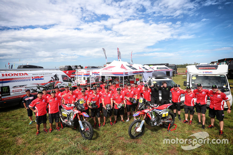 Foto de equipo del Monster Energy Honda