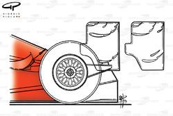Diferencias de los alerones traseros del Ferrari F399