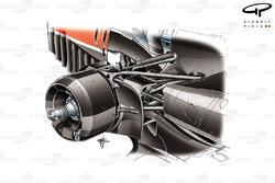 Ferrari F14 T rear suspension detail