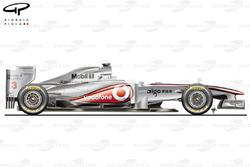 McLaren MP4/26 side view, winter testing