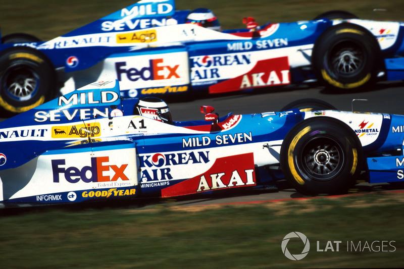 Gerhard Berger, Benetton B197; Jean Alesi, Benetton B197