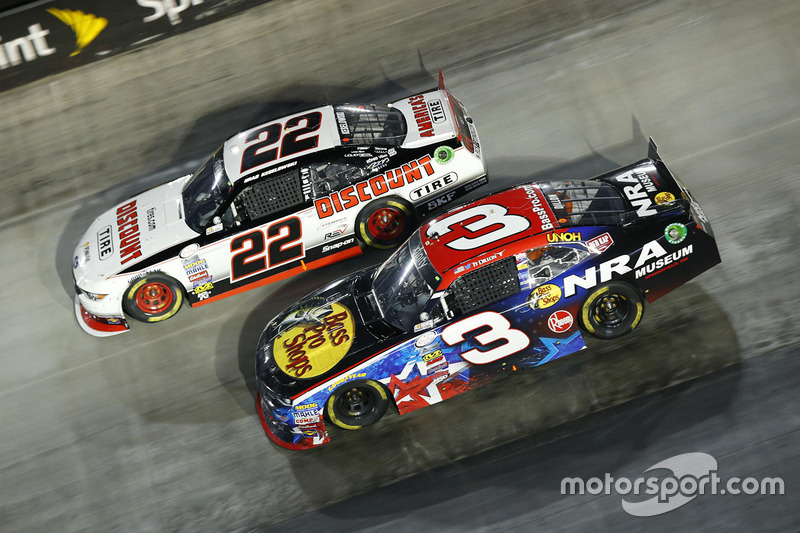 Ty Dillon, Richard Childress Racing Chevrolet, Brad Keselowski, Team Penske Ford