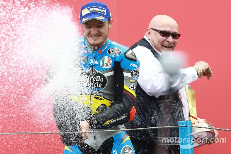 Podium: Sieger Jack Miller, Marc VDS Racing, Honda, feiert