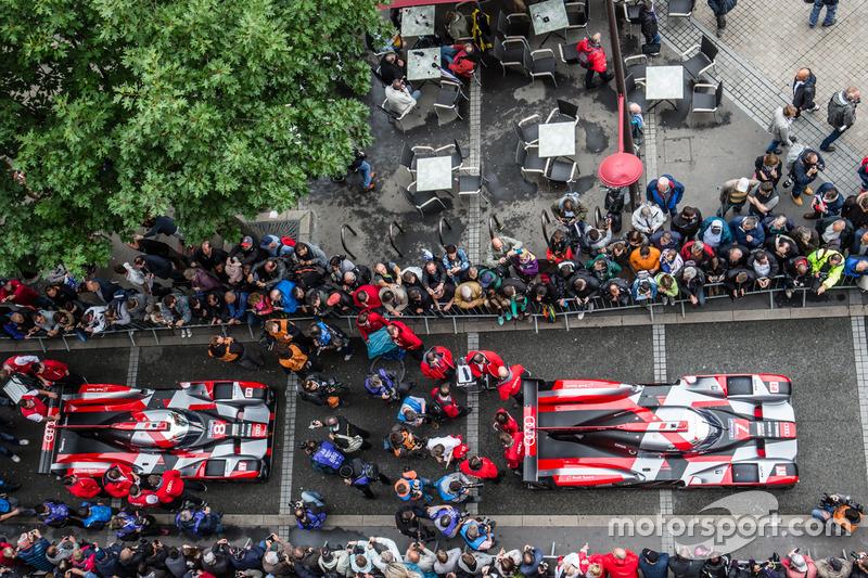 #7 Audi Sport Team Joest Audi R18 та #8 Audi Sport Team Joest Audi R18 e-tron quattro